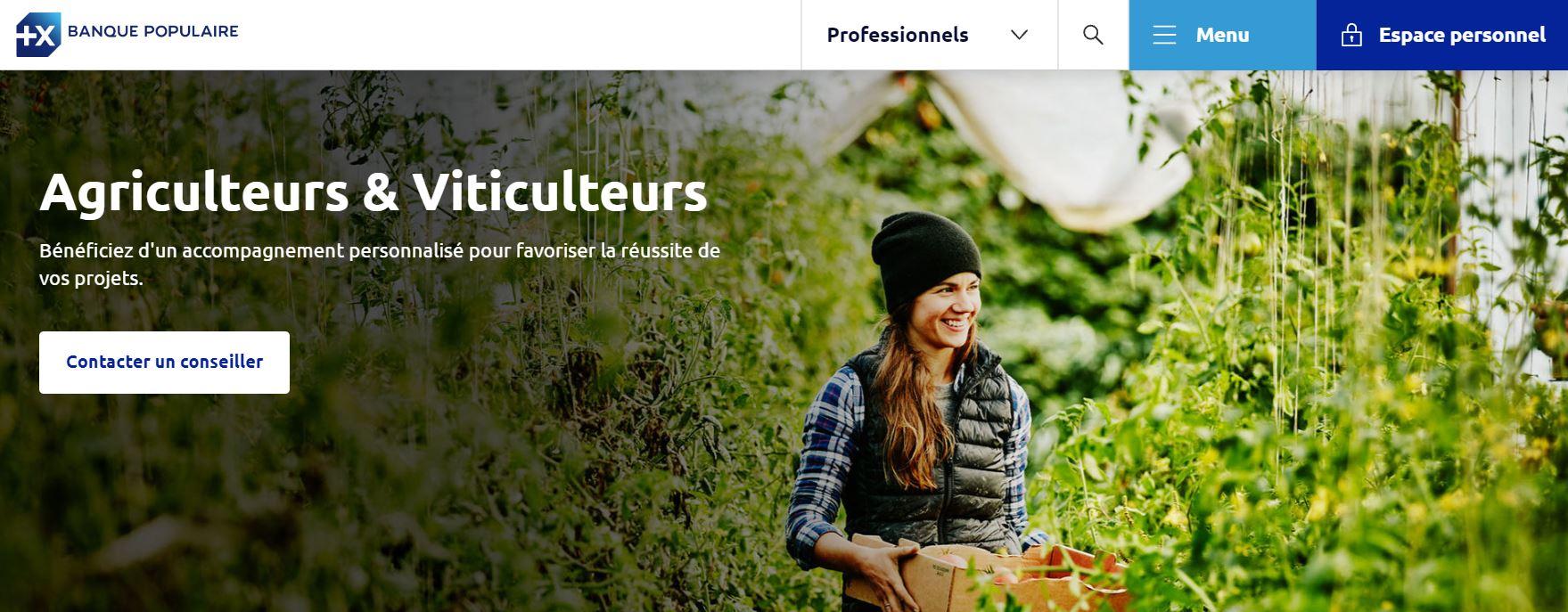 banque populaire viticulteur agriculteurs